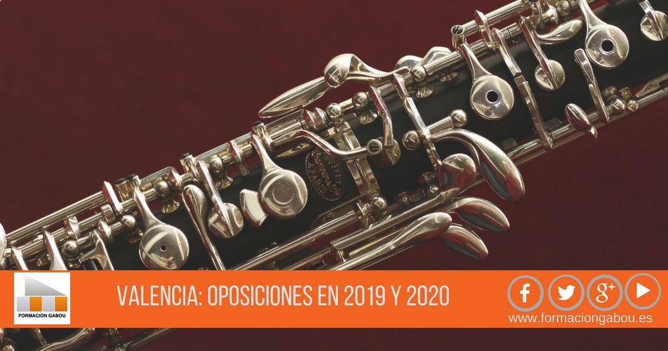 Valencia: Oposiciones Conservatorio 2019 y 2020