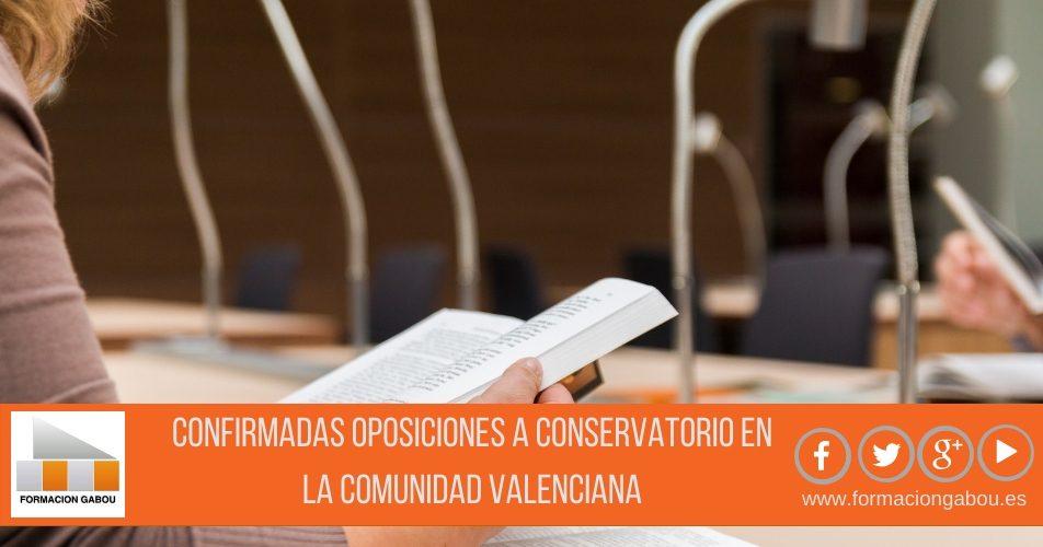 Comunidad Valenciana confirma Oposiciones a Conservatorio