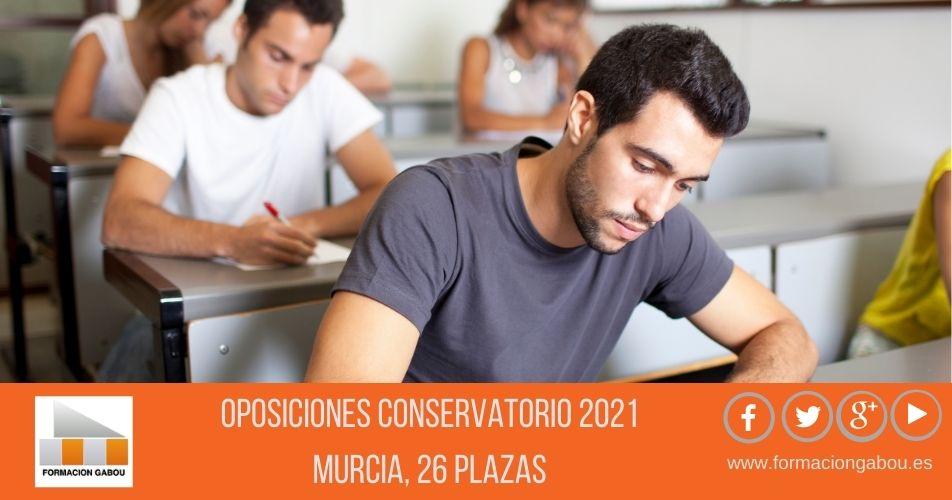 Murcia Oposiciones Conservatorio 2021