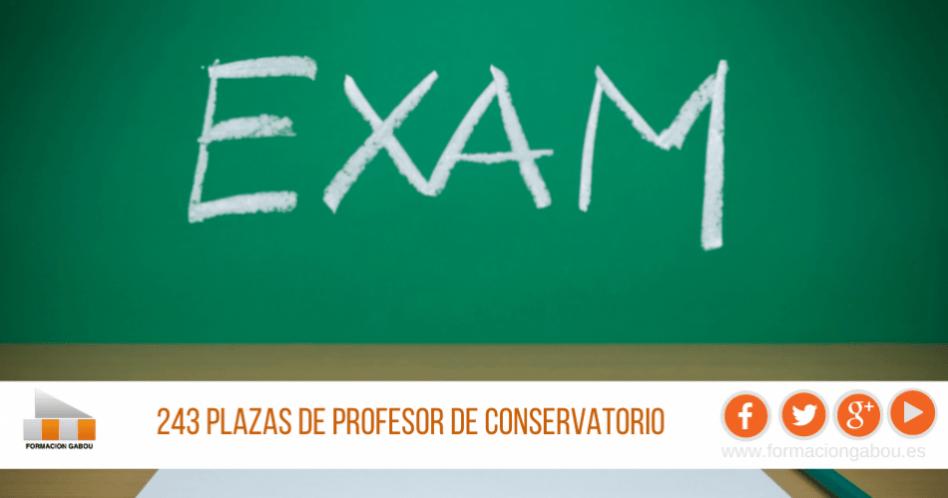 Oposiciones Profesor Conservatorio 2021