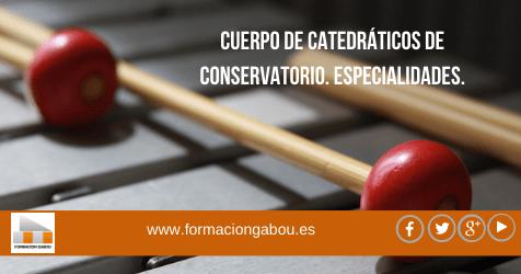 Cuerpo de catedráticos de conservatorio. Especialidades.