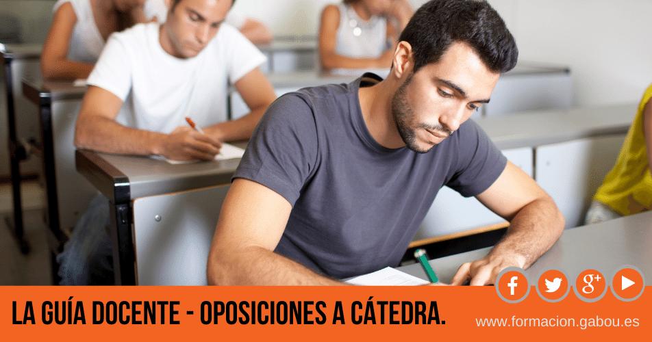 Catedráticos de música - Guía Docente.