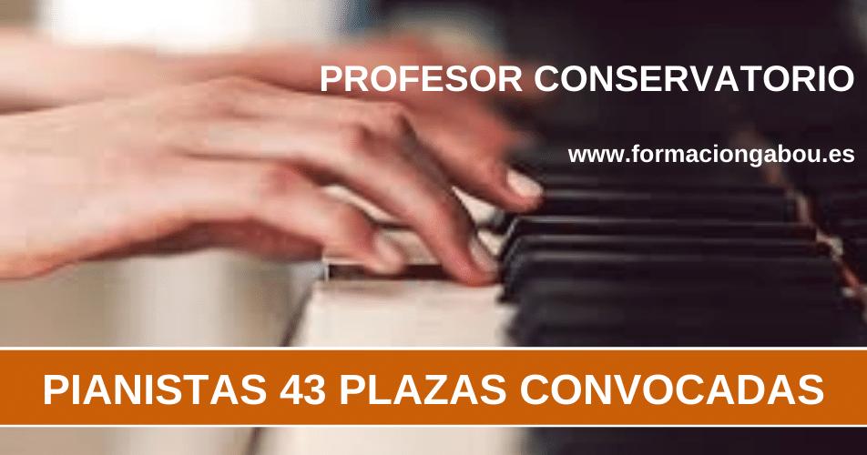 PIANISTAS OPOSICIONES CONSERVATORIO
