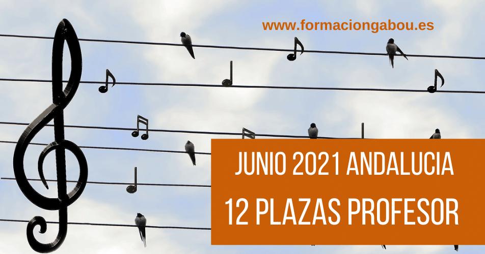 ANDALUCIA 2021 PLAZAS CONSERVATORIO