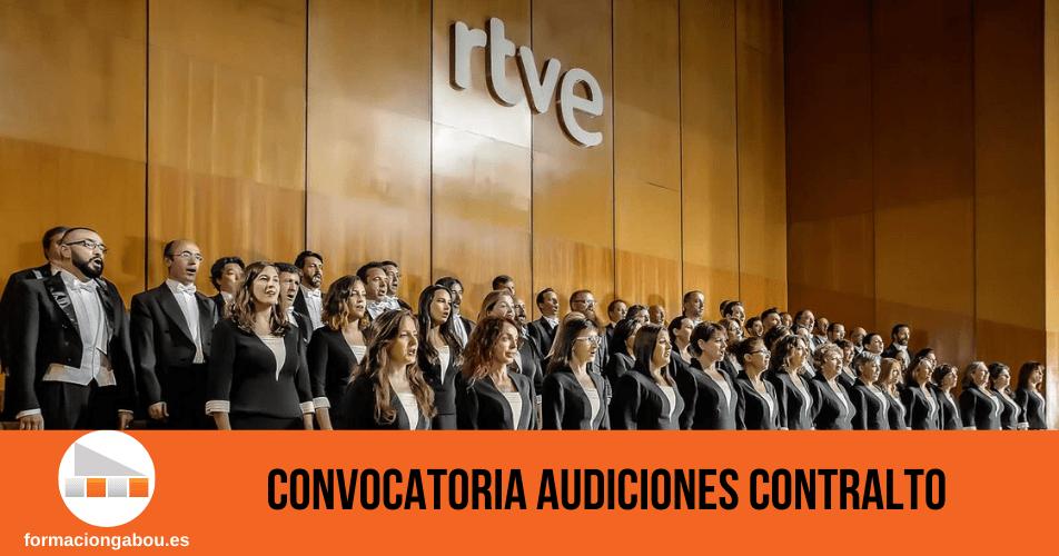 Audiciones contralto Orquesta y Coro de RTVE
